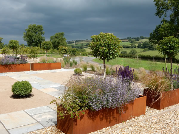 garden design for parkfield's stable derbyshire
