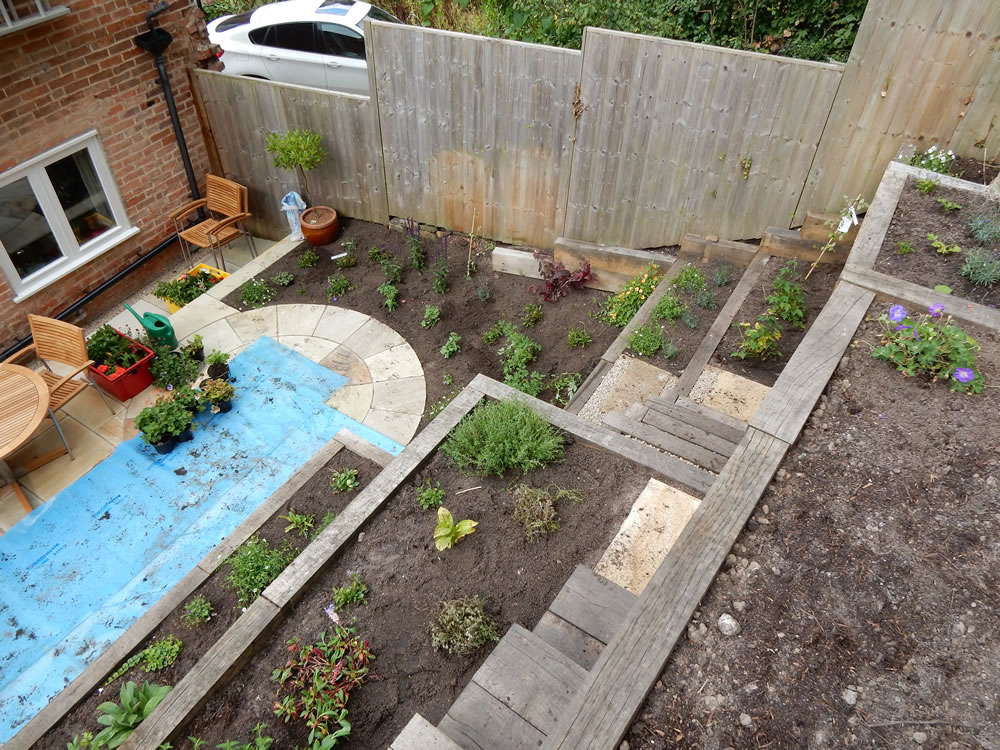 images - Garden Design Slope